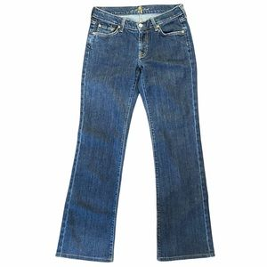 7 For All Mankind Blue Wide Leg Jeans Sz 28